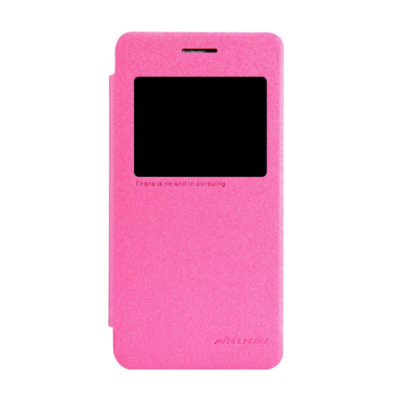 Nillkin Sparkle Leather Pink Casing for Asus Zenfone 4