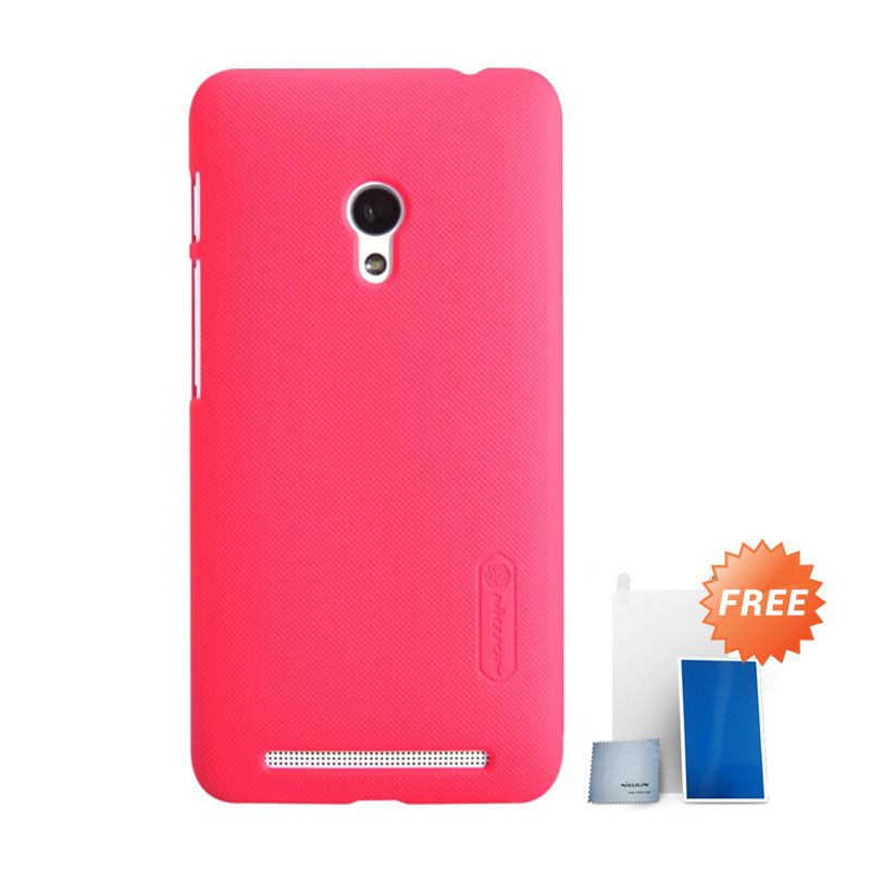 Nillkin Super Frosted Casing Merah for Asus Zenfone 6 + Nillkin Screen Protector