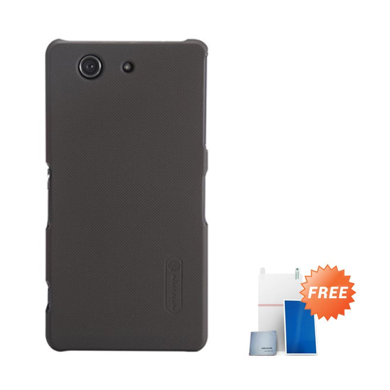 Nillkin Super Frosted Coklat Casing for Xperia Z3 Compact + Screen Protector