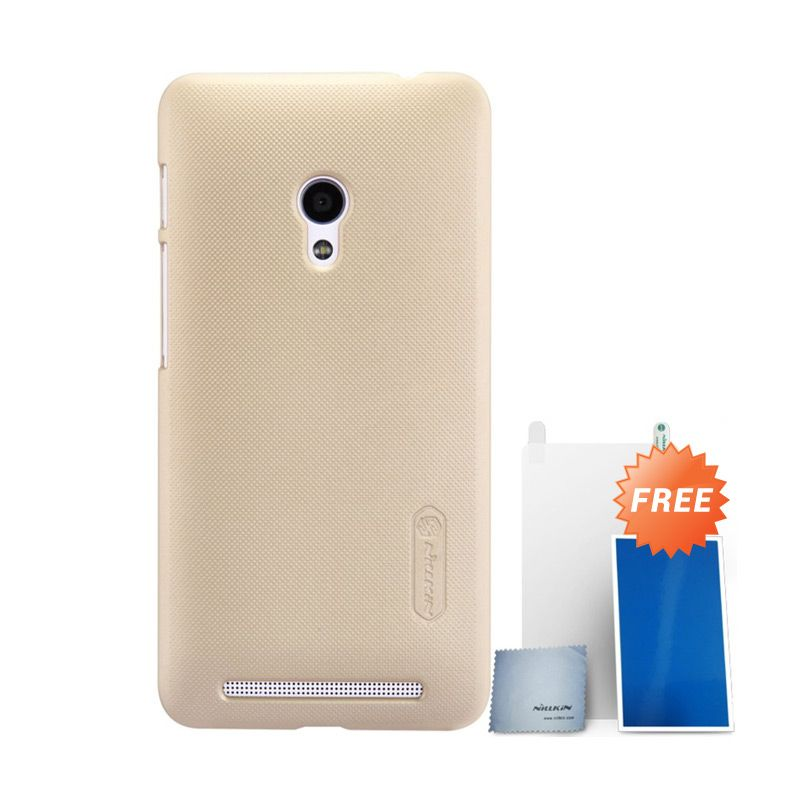 Nillkin Super Frosted Gold Casing for Asus Zenfone 4 + Nillkin Screen Protector