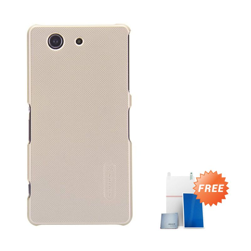 Nillkin Super Frosted Gold Casing for Xperia Z3 Compact + Screen Protector