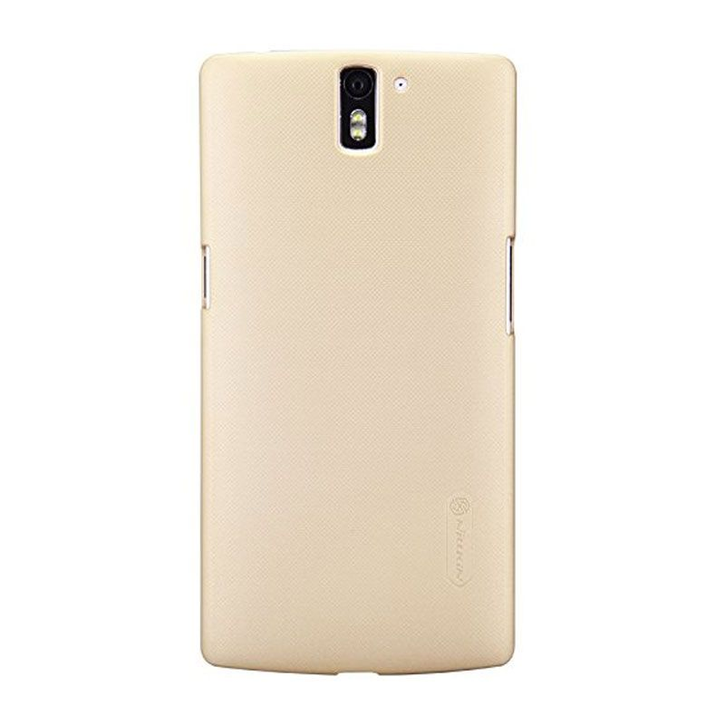Nillkin Super Frosted Casing Gold for OnePlus One A0001 + Nillkin Screen Protector