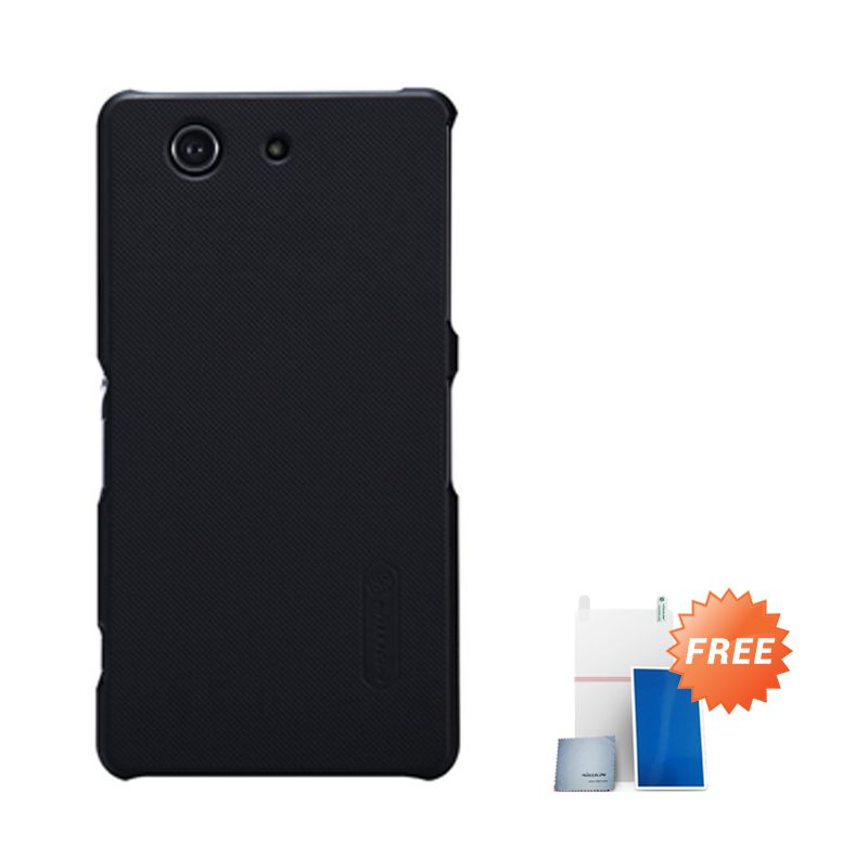 Nillkin Super Frosted Hitam Casing for Xperia Z3 Compact + Screen Protector