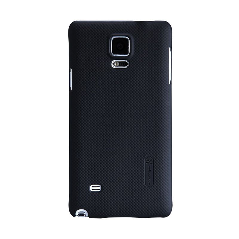 Nillkin Super Frosted Casing Hitam for Samsung Galaxy Note 4 + Nillkin Screen Protector