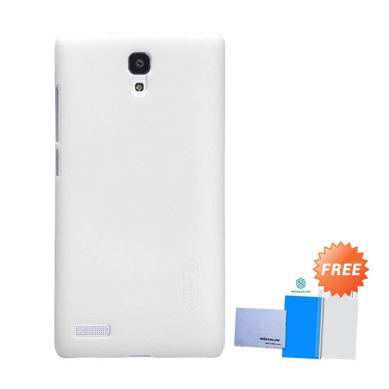 Nillkin Super Frosted Putih Casing for Xiaomi Redmi Note + Screen Protector