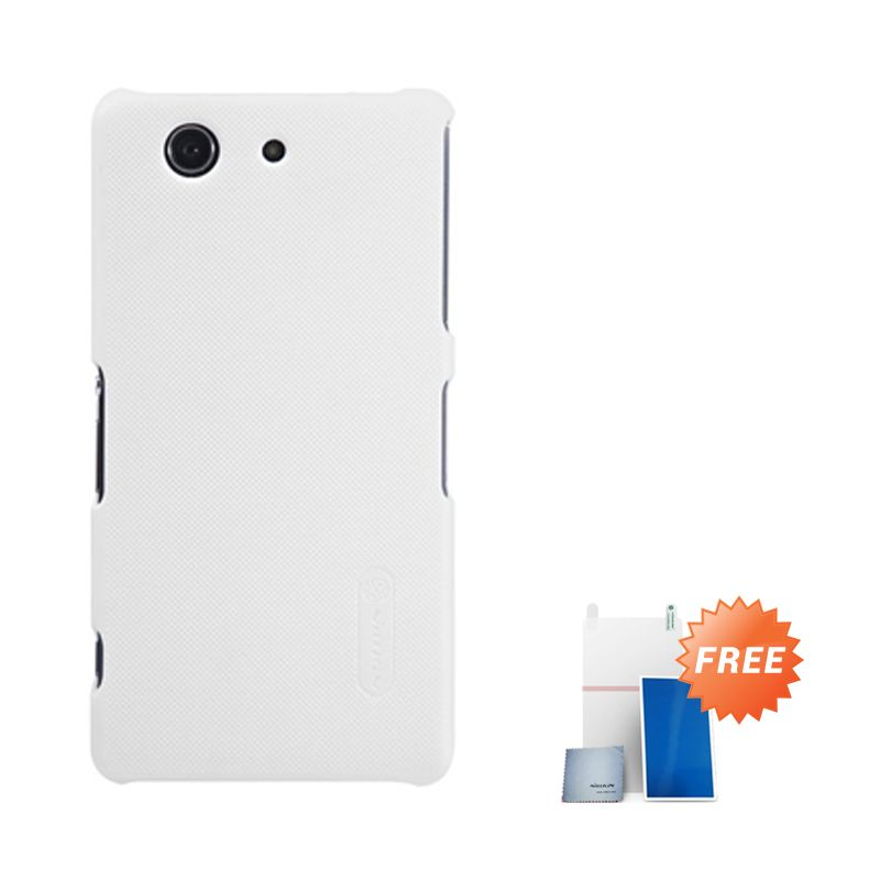 Nillkin Super Frosted Putih Casing for Xperia Z3 Compact + Screen Protector