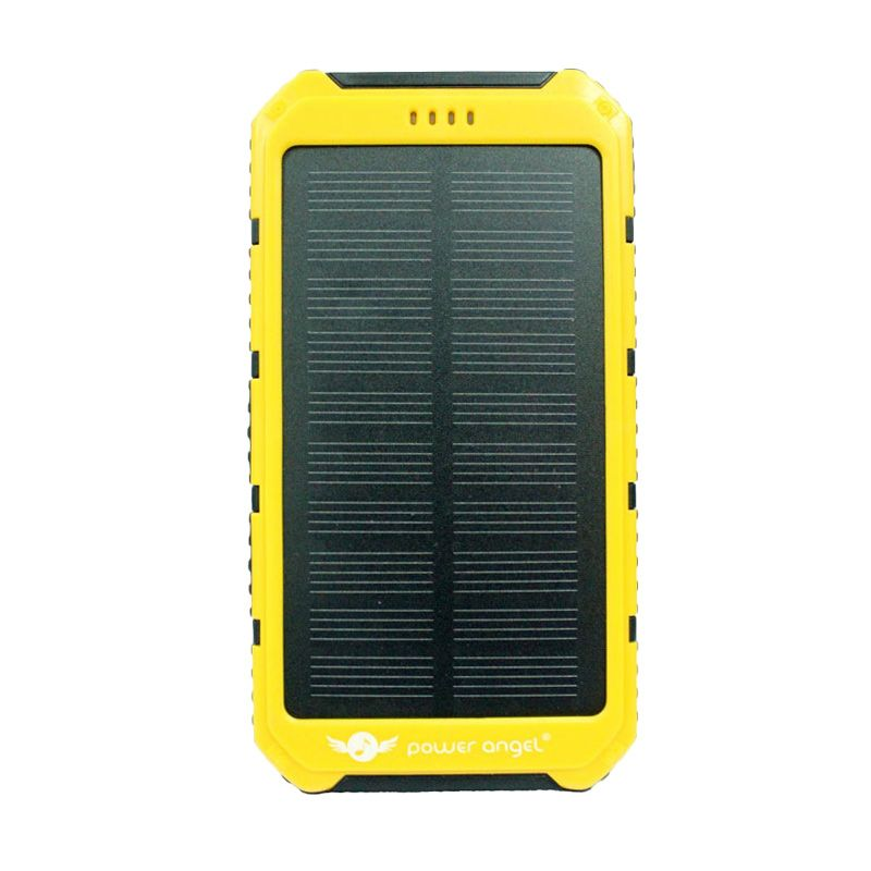 Power Angel Powerbank Solar Charger SC200 - 8800mAh - Hitam-Kuning