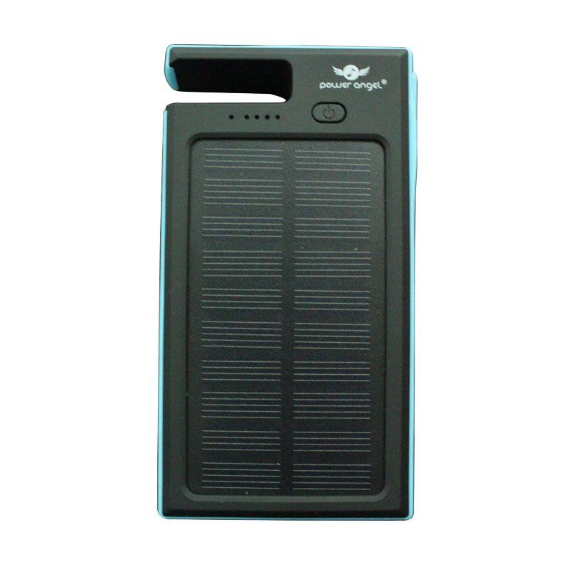 Power Angel Powerbank Solar Charger SC300 - 6800mAh - Hitam-Biru