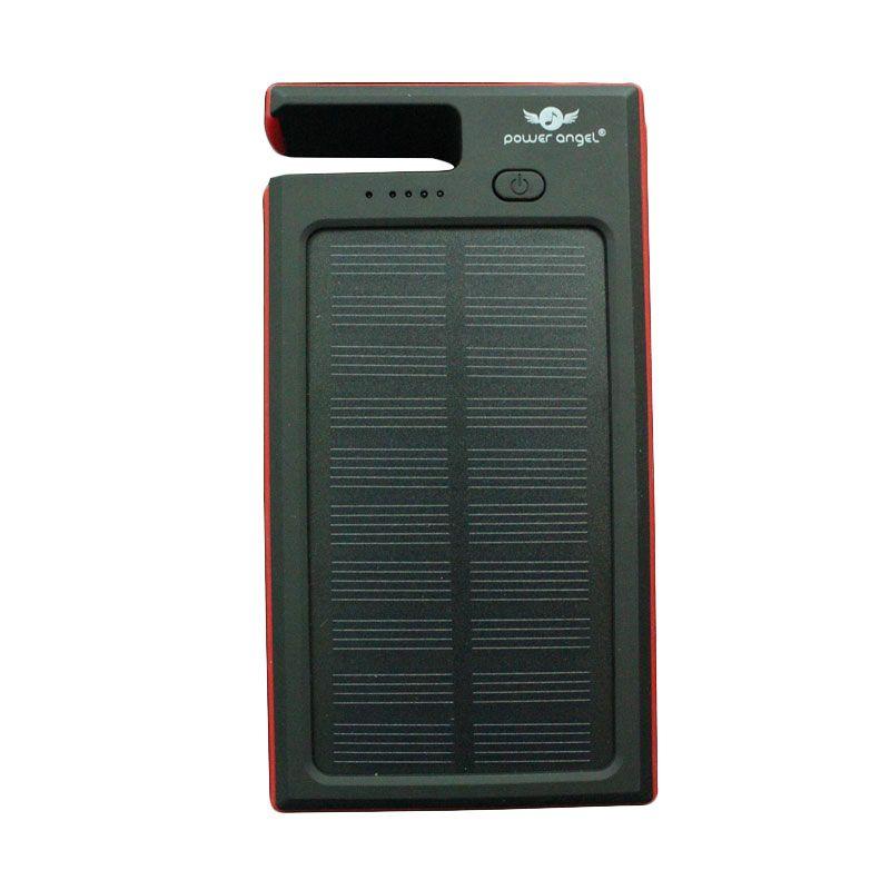 Power Angel Powerbank Solar Charger SC300 - 6800mAh - Hitam-Merah