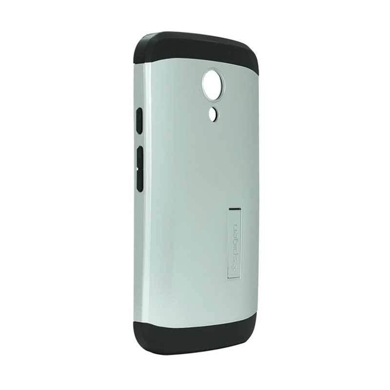 Spigen Tough Armor Silver Casing for Motorola Moto G2