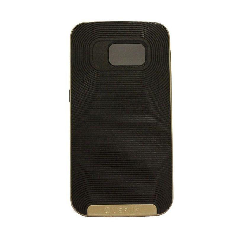 Verus Crucial Bumper Black Gold Casing for Galaxy S6 Edge