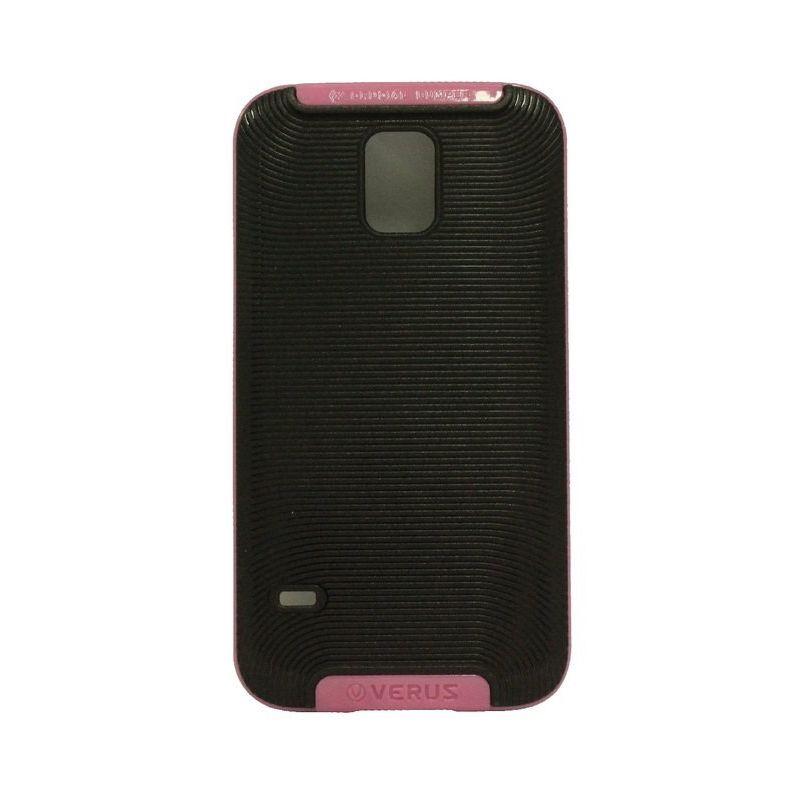 Verus Crucial Bumper Black Pink Casing for Galaxy S5