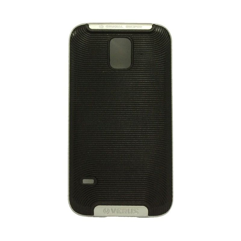 Verus Crucial Bumper Black Silver Casing for Galaxy S5