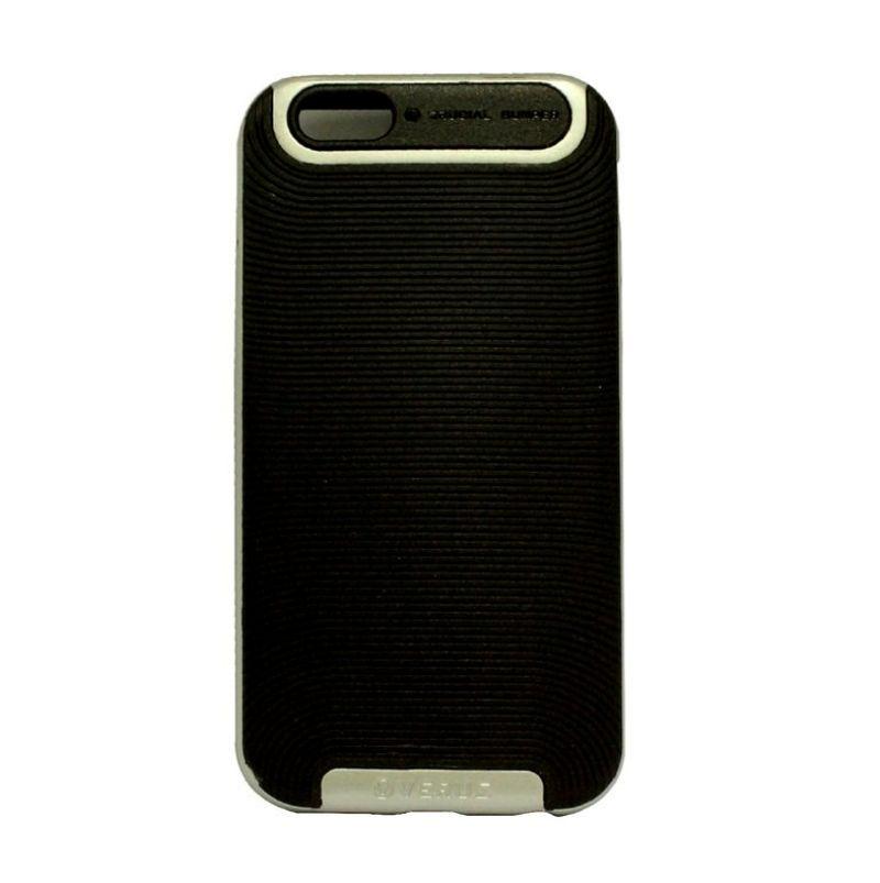 Verus Crucial Bumper Black Silver Casing for iPhone 4