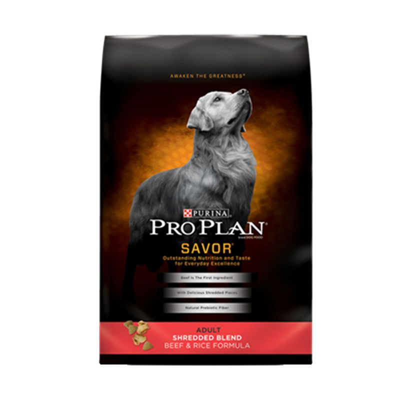 Pro Plan Savor Adult Shredded Blend Beef and Rice Makanan Anjing [15.89 kg]