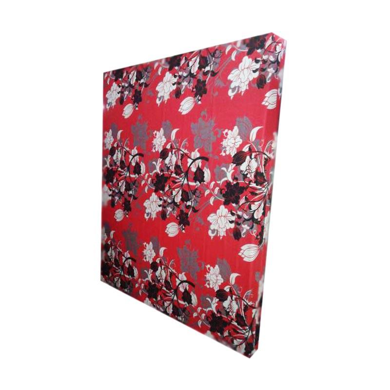 Anoria Flower Kasur Busa - Red [200 x 180 x 20]
