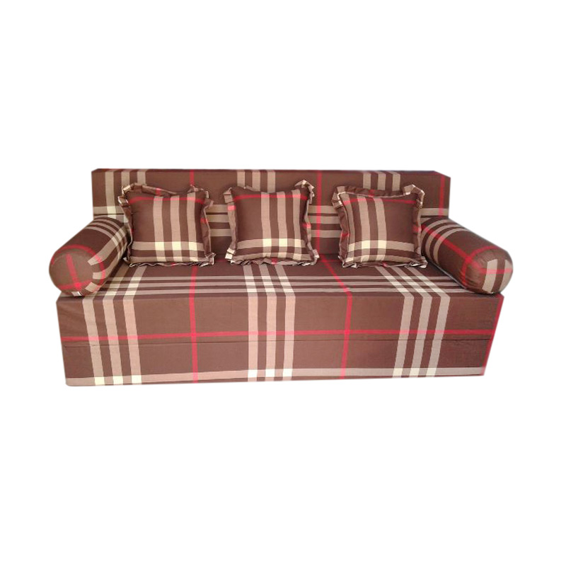 Anoria Sofabed Motif Line Brown [King/200x180x20 cm]