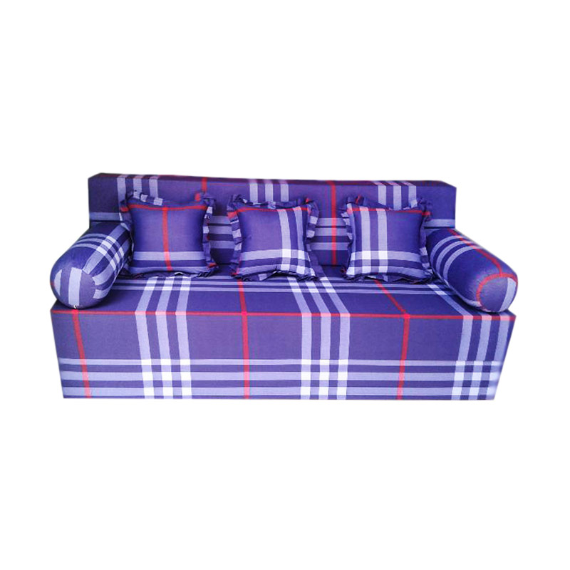 Anoria Sofabed Motif Purple Line [King/200x180x20 cm]