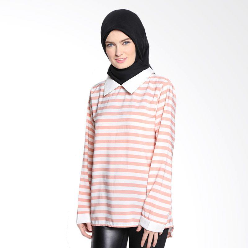 ANTIIQA Nourah AN001-000019 Peach Atasan Muslim