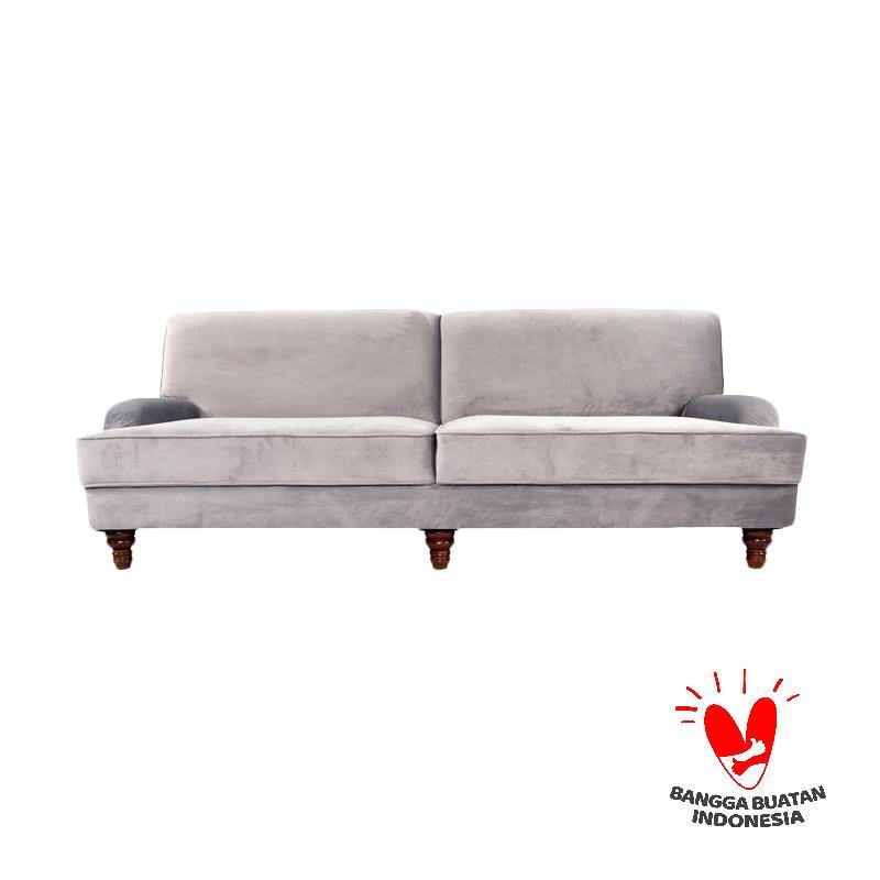 Antik Mebel Moonstone Sofa Three Seater - Grey