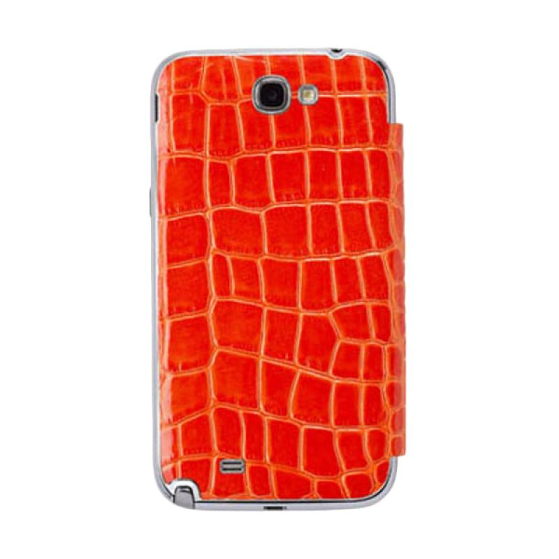 Anymode Mirror Folio Cover Orange Casing for Samsung Galaxy Note 2