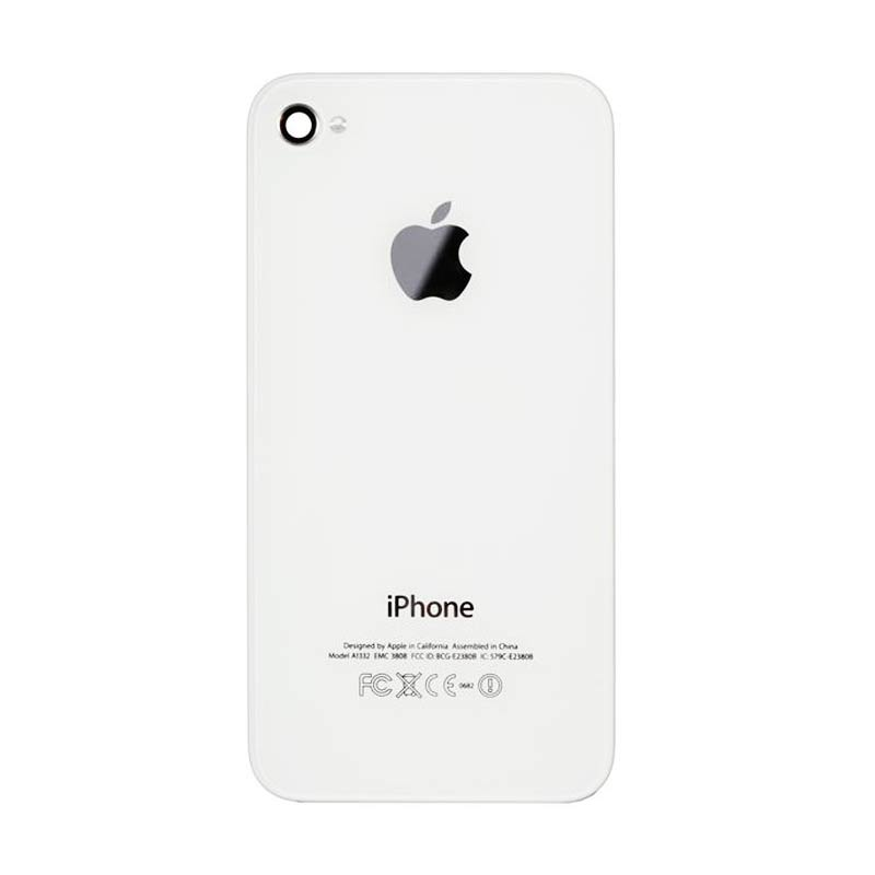 Apple Back Door Casing for iPhone 4S GSM - White/Putih