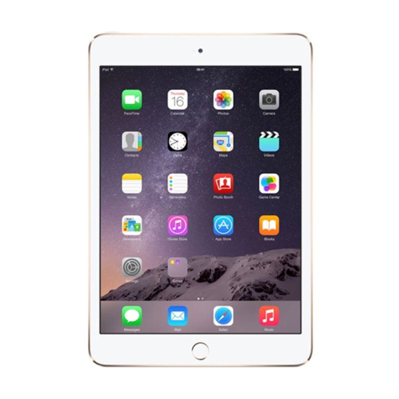 Apple iPad mini 3 Gold Tablet [16GB\Wi-Fi + Cellular]
