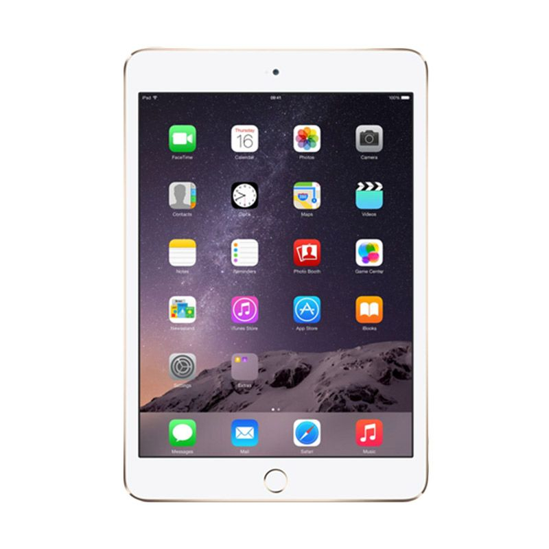 Apple iPad mini 3 Gold Tablet [16 GB/Wi-Fi/Garansi Resmi]