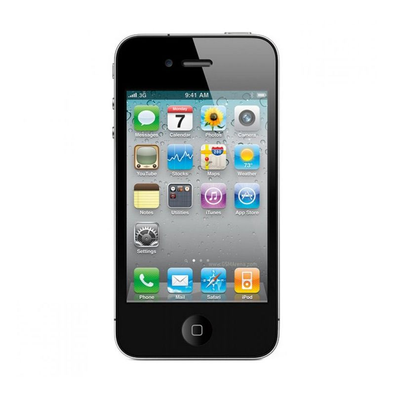Diskon Apple iPhone 4 Smartphone – Black [16 GB/Refurbished]