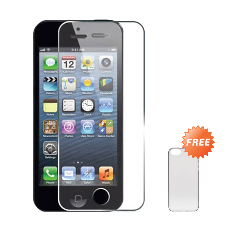 harga Apple iPhone 4S 16 GB Smartphone - Black [Refurbished] + FRee Tempered Glass Screen Protector Blibli.com