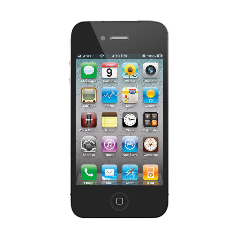 harga Apple iPhone 4S 16 GB Smartphone - Black Blibli.com