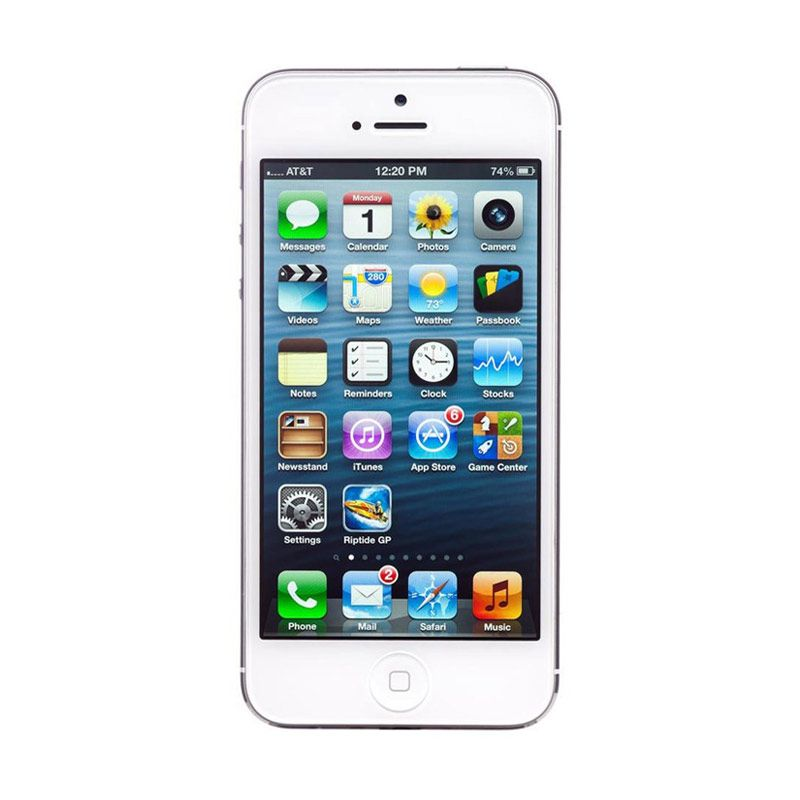 Diskon Apple iPhone 5 16 GB Smartphone – Putih [Refurbished]