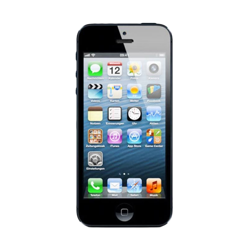 Diskon Apple iPhone 5 16 GB Smartphone – Hitam (Refurbish)
