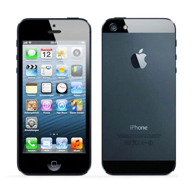 Diskon Apple iPhone 5 32GB Smartphone – Hitam + Free Tempered Glass