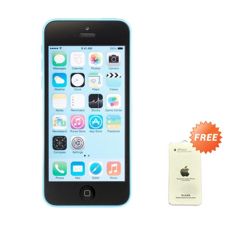 Apple iPhone 5C Blue (Refurbish) Smartphone [16 GB] + Tempered Glass - 9287267 , 15446814 , 337_15446814 , 2599000 , Apple-iPhone-5C-Blue-Refurbish-Smartphone-16-GB-Tempered-Glass-337_15446814 , blibli.com , Apple iPhone 5C Blue (Refurbish) Smartphone [16 GB] + Tempered Glass