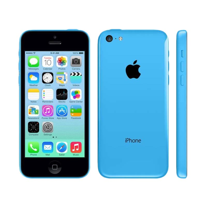 Diskon Apple iPhone 5C 32 GB Smartphone – Blue [REFURBISH]