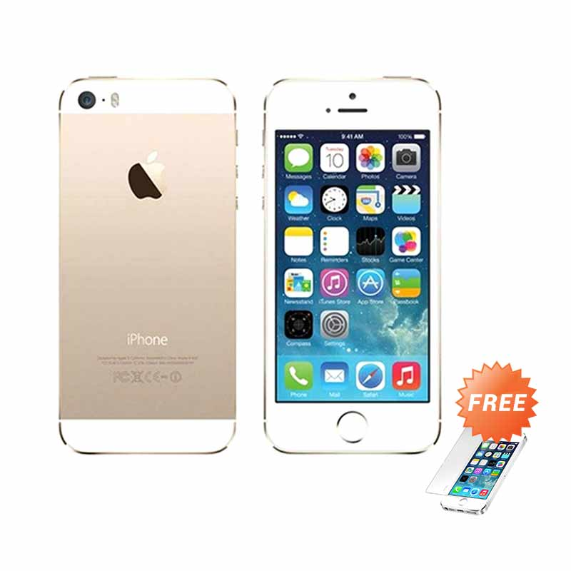 Apple iPhone 5S 16 GB Gold [Refurbish] Smartphone + Tempered Glass - 9285401 , 15443180 , 337_15443180 , 4099000 , Apple-iPhone-5S-16-GB-Gold-Refurbish-Smartphone-Tempered-Glass-337_15443180 , blibli.com , Apple iPhone 5S 16 GB Gold [Refurbish] Smartphone + Tempered Glass