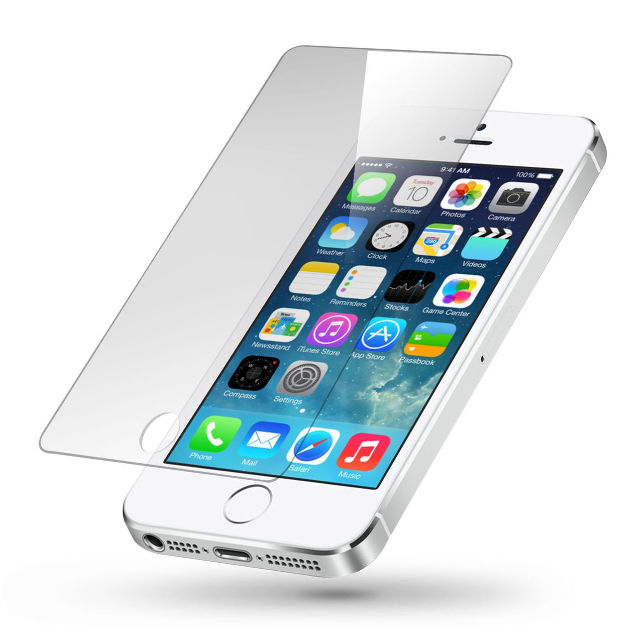 Apple iPhone 5S 32 GB White (Refurbish) Smartphone + Tempered Glass