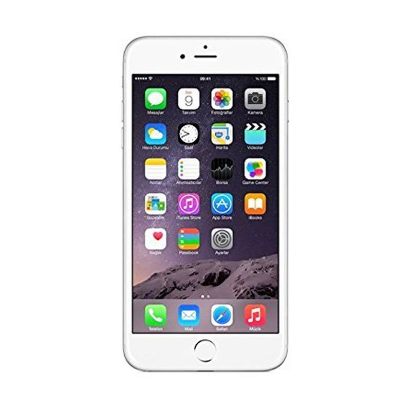 Diskon Apple iPhone 6 128 GB Smartphone – Silver [ Refurbish ]