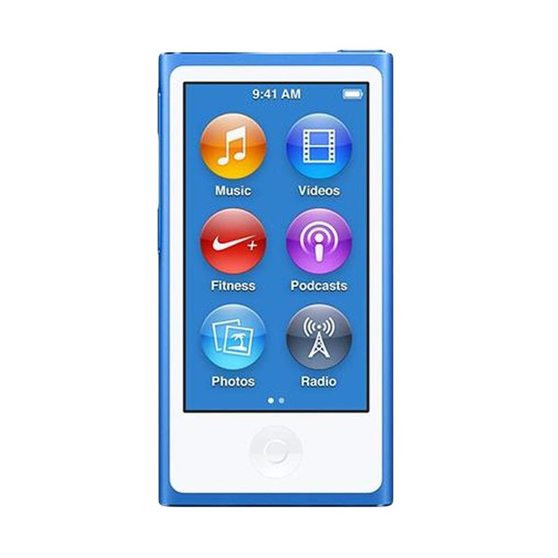 harga Apple iPod Nano 7th Generation Portable Player - Blue [16 GB] Blibli.com