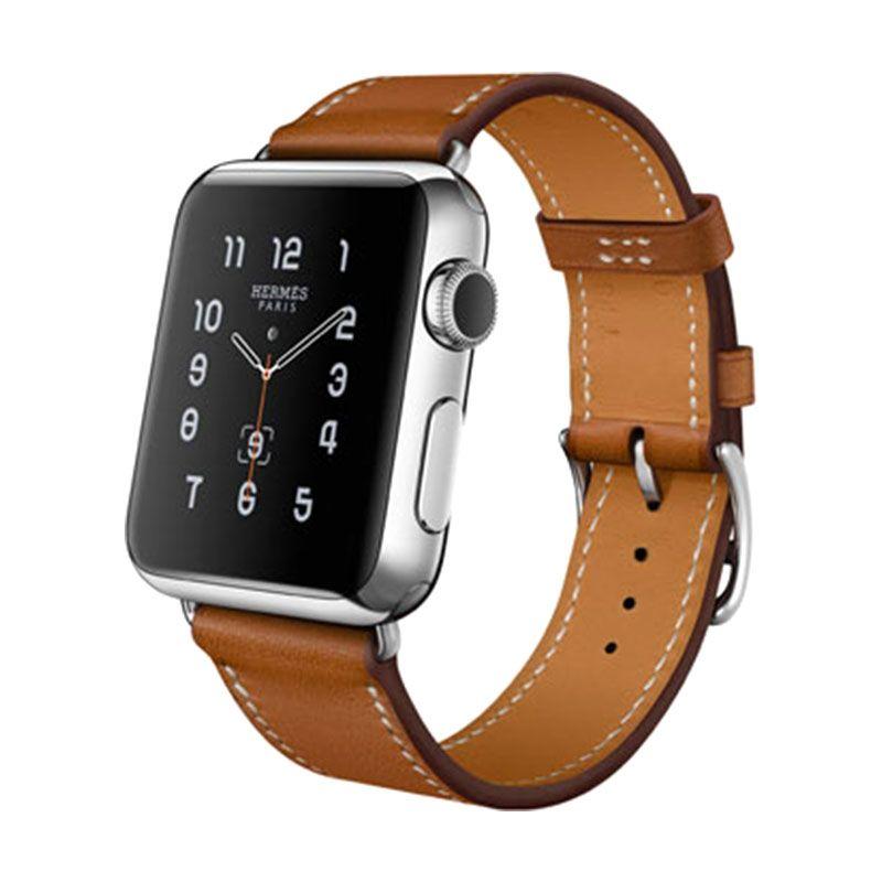 Apple Hermès Single Tour Fauve Barenia Leather Band Smartwatch [38mm]
