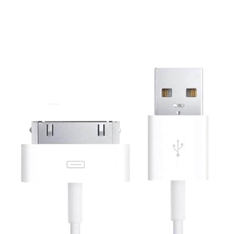 Jual Apple Kabel Data for iPhone 4/4S & iPad 1/2/3 - Putih [30 Pin] Online - Harga & Kualitas Terjamin | Blibli.com