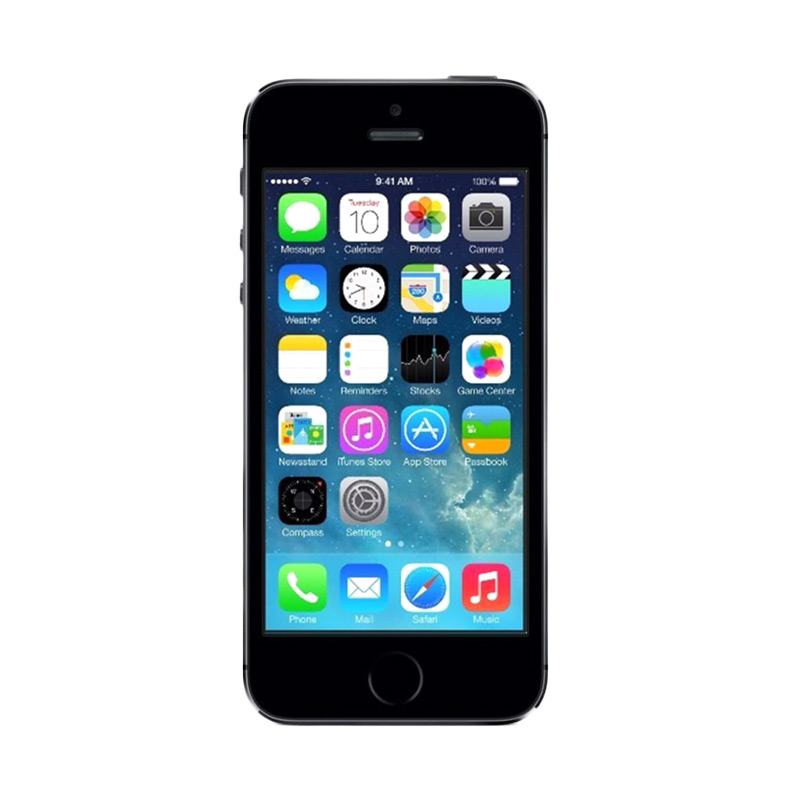 Diskon Apple iPhone 5S 64 GB Grey Smartphone [Distributor Certifed Refurbished]