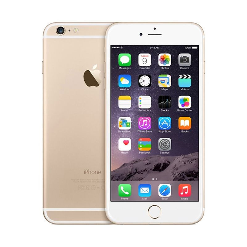 Diskon Apple iPhone 6 16 GB Smartphone – Gold