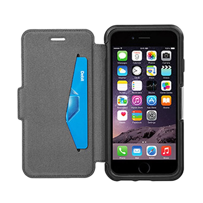 OtterBox Strada series New Minimalis Black Casing for Apple iPhone 6