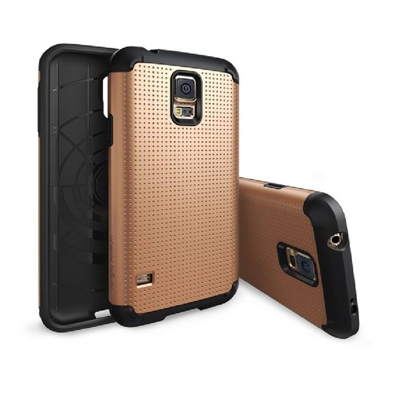 Rearth Ringke Armor Copper Gold Casing for Samsung Galaxy S5