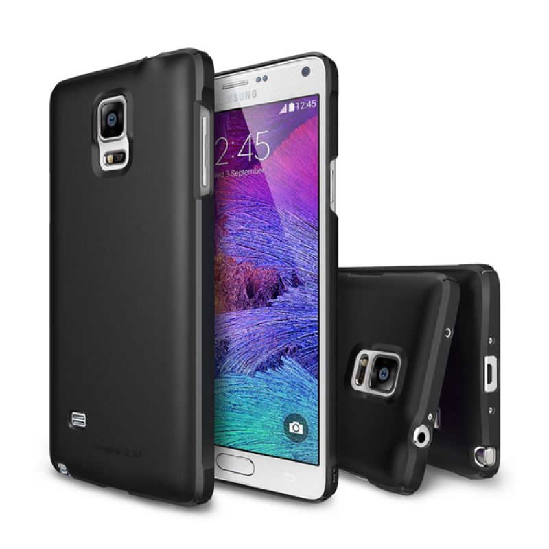Rearth Ringke Slim Black Casing for Samsung Galaxy Note 4