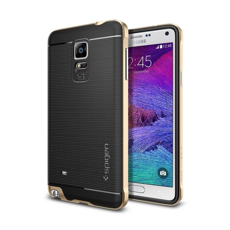 Spigen Neo Hybrid Champagne Gold Casing for Samsung Galaxy Note 4