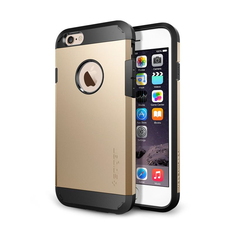 Spigen Neo Hybrid Ex Champagne Gold Casing For iPhone 6
