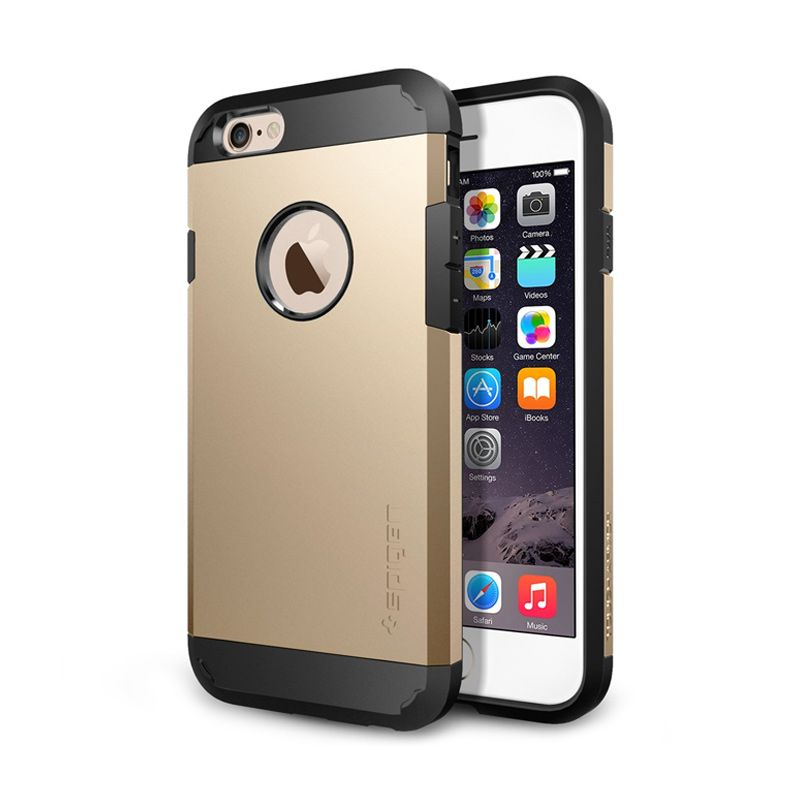 Spigen Neo Hybrid Ex Metal Champagne Gold Casing For iPhone 6
